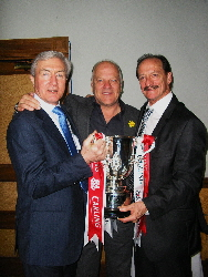 15. A rare photo of John Richards, Andy Gray and Kenny Hibbitt holding the League Cup