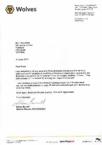 Wolves Women PAW letter June2012